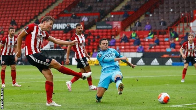 Sheffield United picked up their first win since the Premier League restarted as they produced a hugely impressive display against Tottenham to keep alive their hopes of playing European football next season.